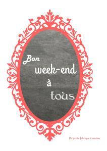 """tableau rétro """"bon weekend"""" réalisé par La petite fabrique à sourires"""