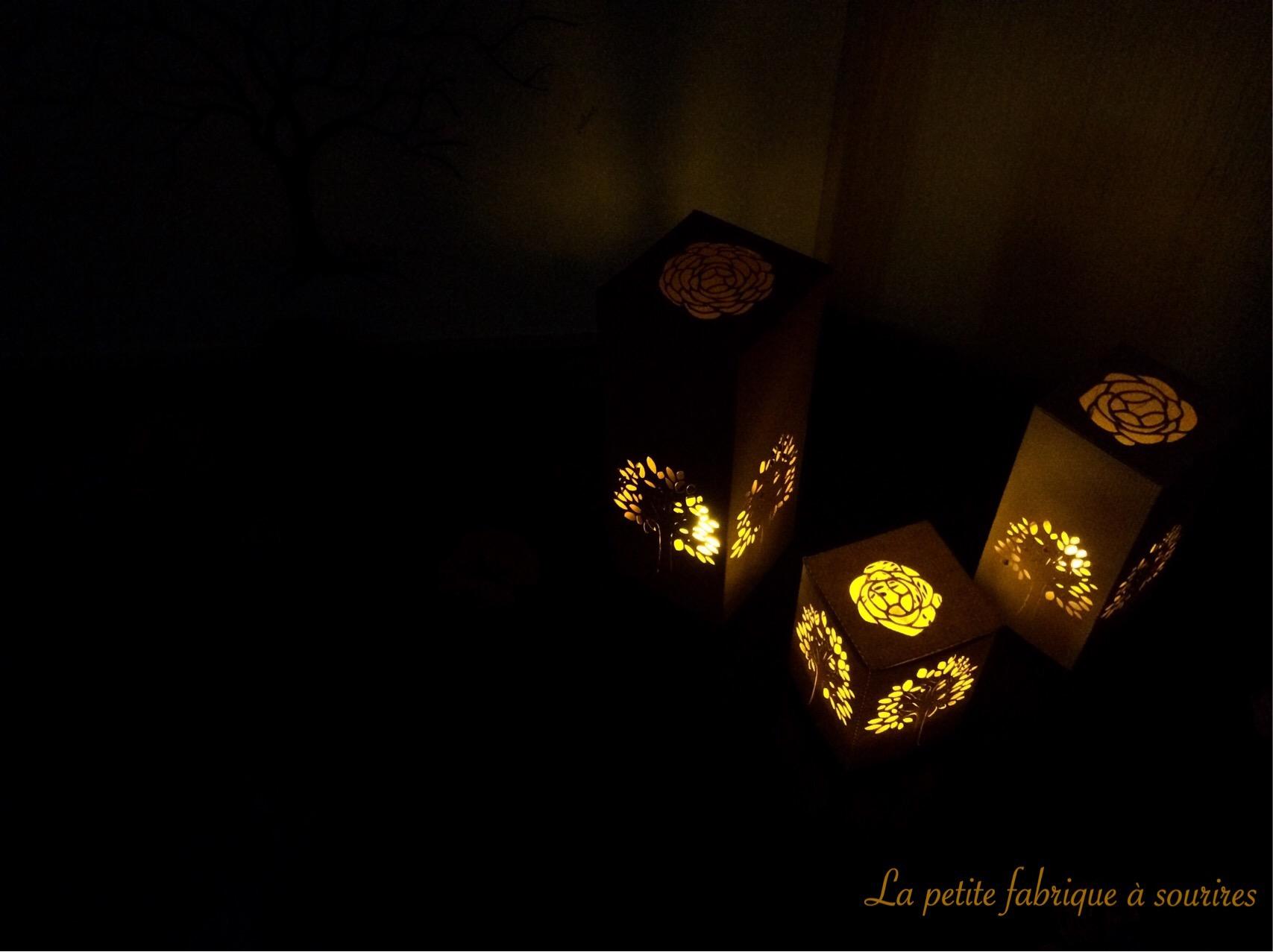 Photophores à LED arbres©Lapetitefabriqueasourires